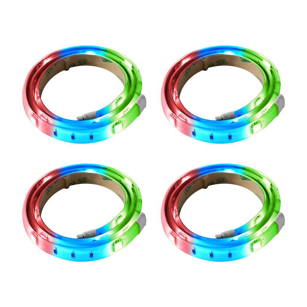 RGB LED Tape Light (4-Pack)