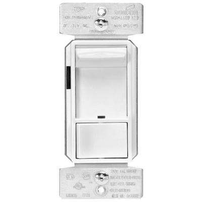 Skye AL Series 3-Way Single-Pole Sliding Dimmer Switch with Rapid Start Feature, White Finish