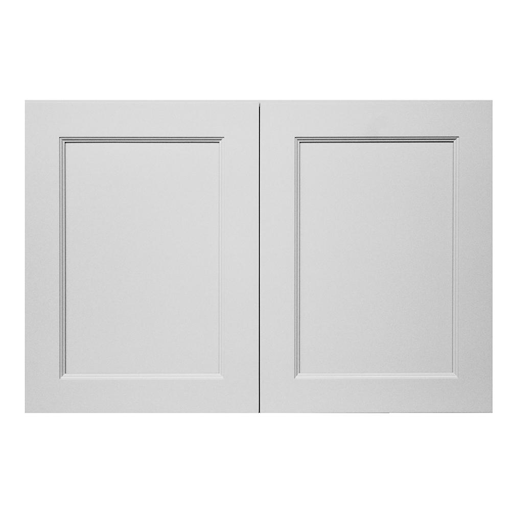 Modern Craftsman Ready to Assemble 36x18x24 in. Wall Cabinet in White