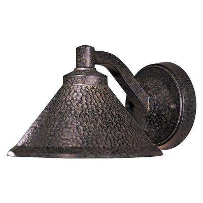 Kirkham 1-Light Bronze Outdoor Wall-Mount Lantern Sconce