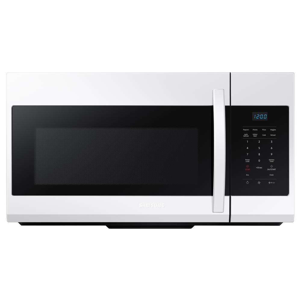Samsung 30 in. W 1.7 cu. ft. Over the Range Microwave in White was $289.0 now $198.0 (31.0% off)