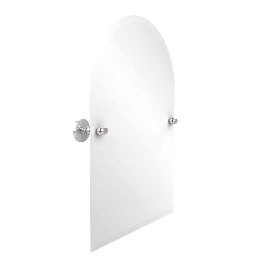 Allied Brass Tango Collection 21 in. x 29 in. Frameless Arched Top Single Tilt Mirror with Beveled Edge in Polished Chrome