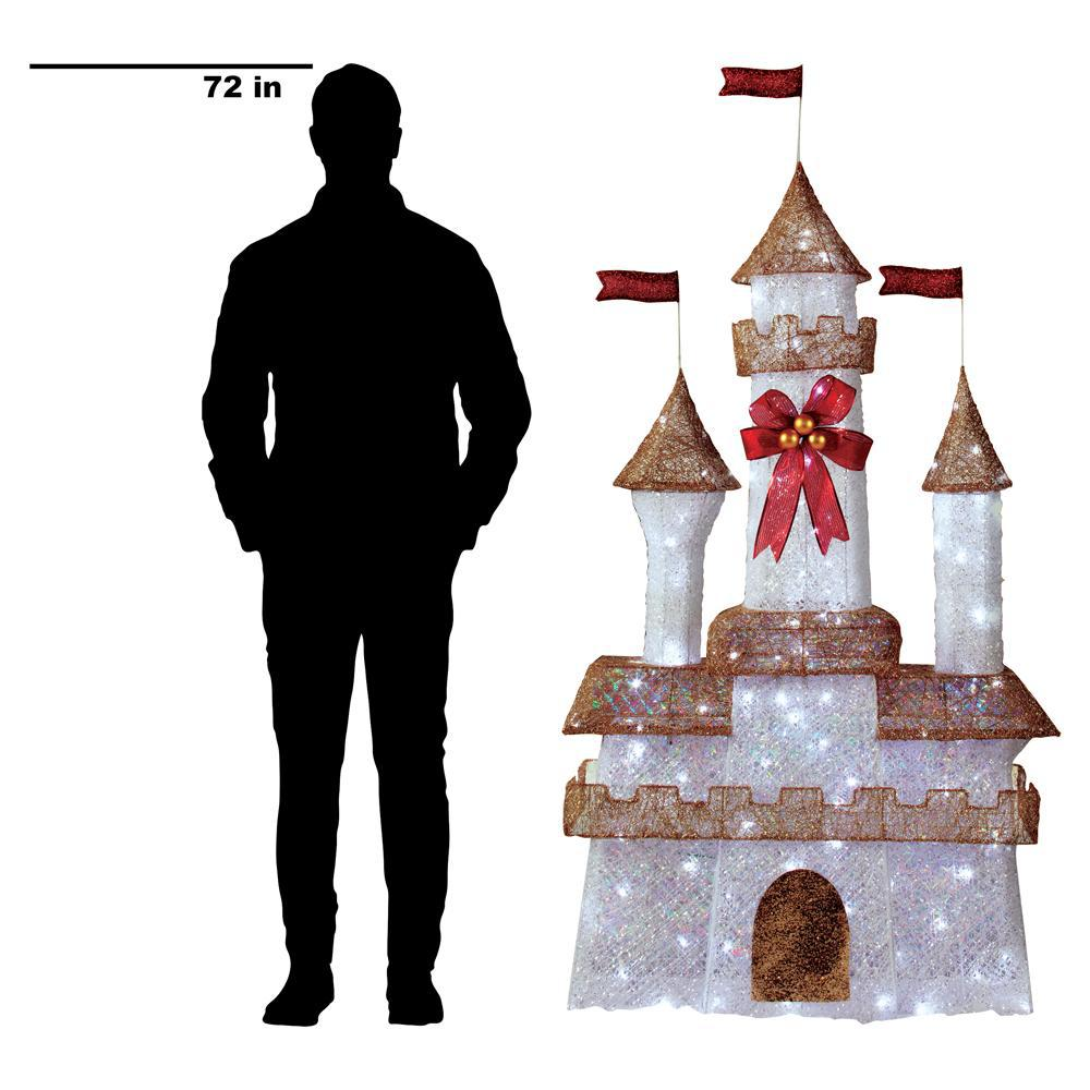 Home Accents Holiday 7 ft 140-Light LED Twinkling Castle