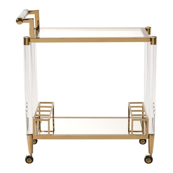 ZUO Existential Gold Serving Cart