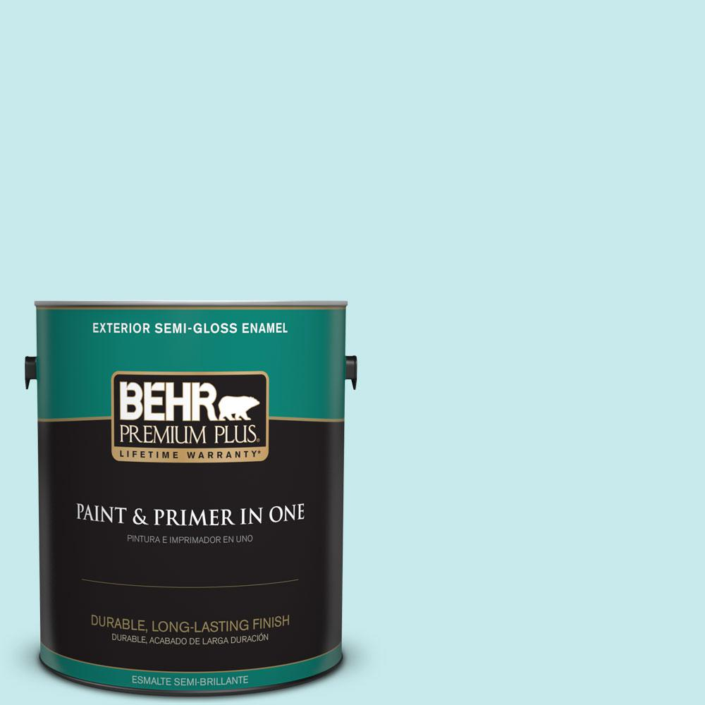 1-gal. #P460-1 Morning Sky Semi-Gloss Enamel Exterior Paint