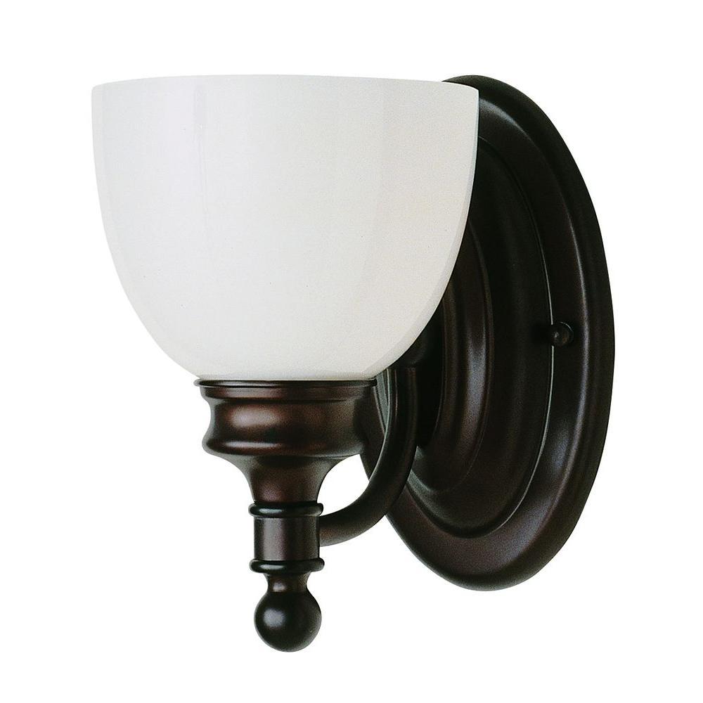 Bel Air Lighting Stewart 1-Light Rubbed Oil Bronze Incandescent Sconce