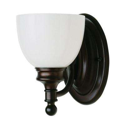 Stewart 1-Light Rubbed Oil Bronze Incandescent Sconce