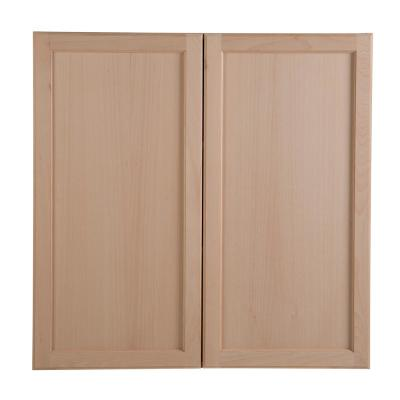 Easthaven Shaker Assembled 36x36x12 in. Frameless Wall Cabinet in Unfinished Beech
