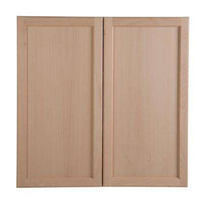 Easthaven Embled 36x36x12 62 In Wall Cabinet Unfinished German Beech