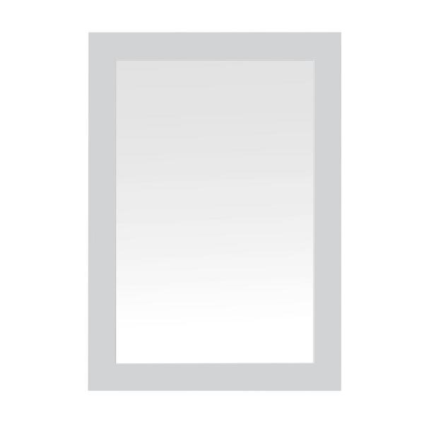 Neville 40 in. x 28 in. Framed Wall Mount Mirror in Dove Grey
