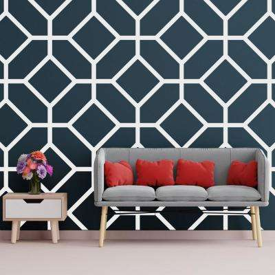 3/8 in. x 39-5/8 in. x 23-3/4 in. Large Cameron White Architectural Grade PVC Decorative Wall Panels