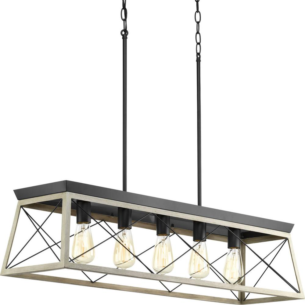 Amazing Progress Lighting Briarwood Collection 5 Light Graphite Chandelier