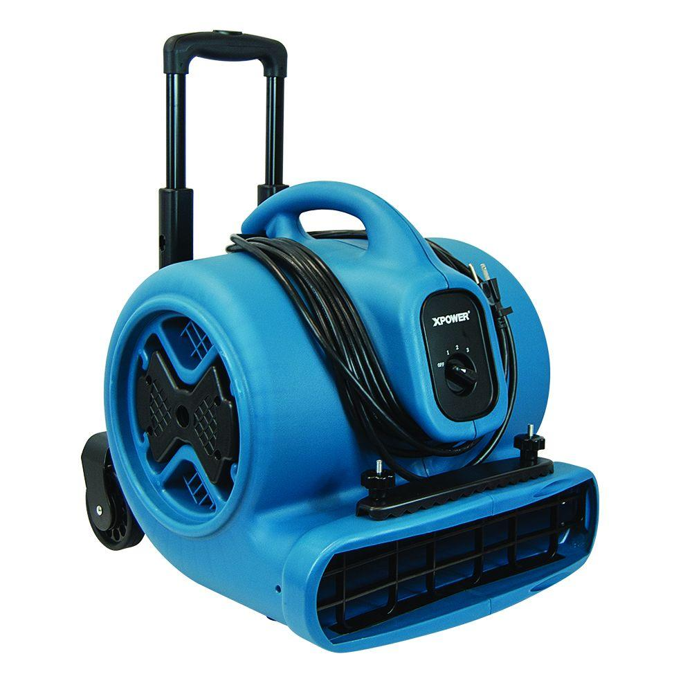 1/2 HP Air Mover Blower Fan with Telescopic Handle and Wheels