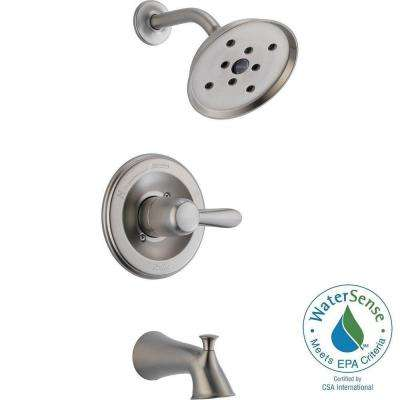 Lahara H2Okinetic Single-Handle 1-Spray Tub and Shower Faucet in Brushed Nickel (Valve Included)