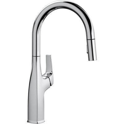 Rivana Single-Handle Pull-Down Sprayer Kitchen Faucet in Chrome