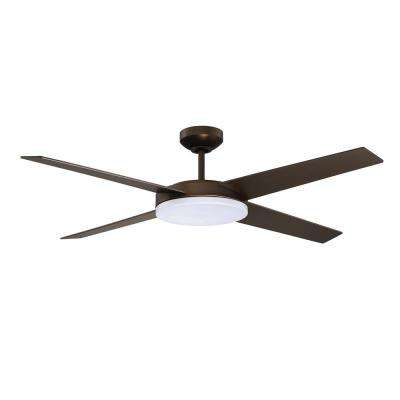 Lopro 52 in. LED Architectural Bronze DC Motor Ceiling Fan