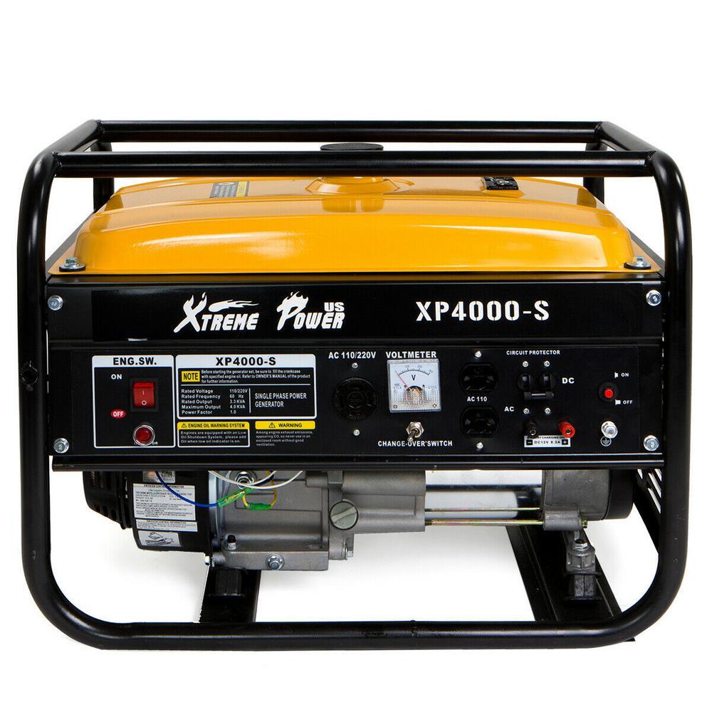 4,000-Watt Gasoline Powered Recoil Start Portable Generator EPA Certified