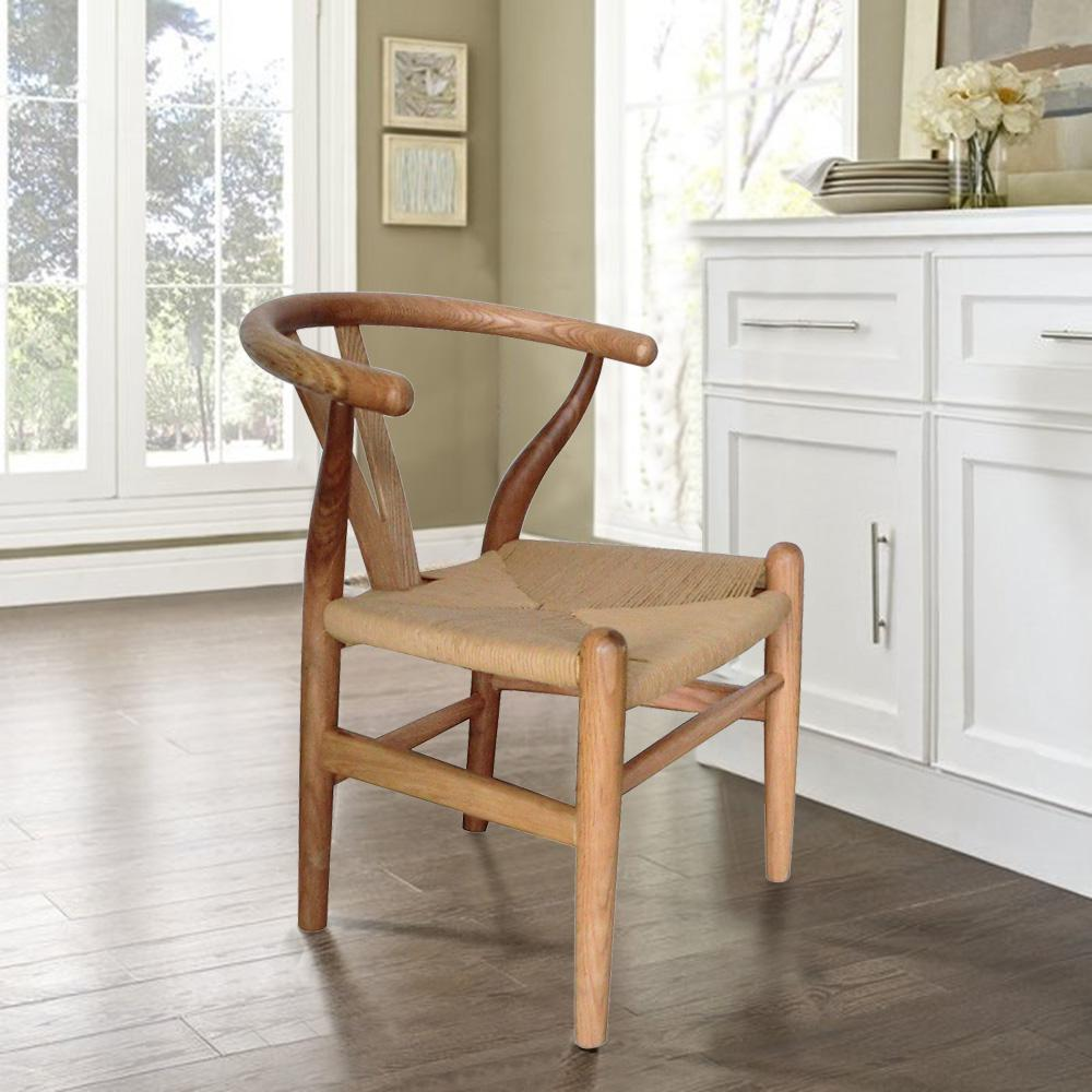 Children's Danish Natural Finish Bentwood Y Chair (Set of 1)