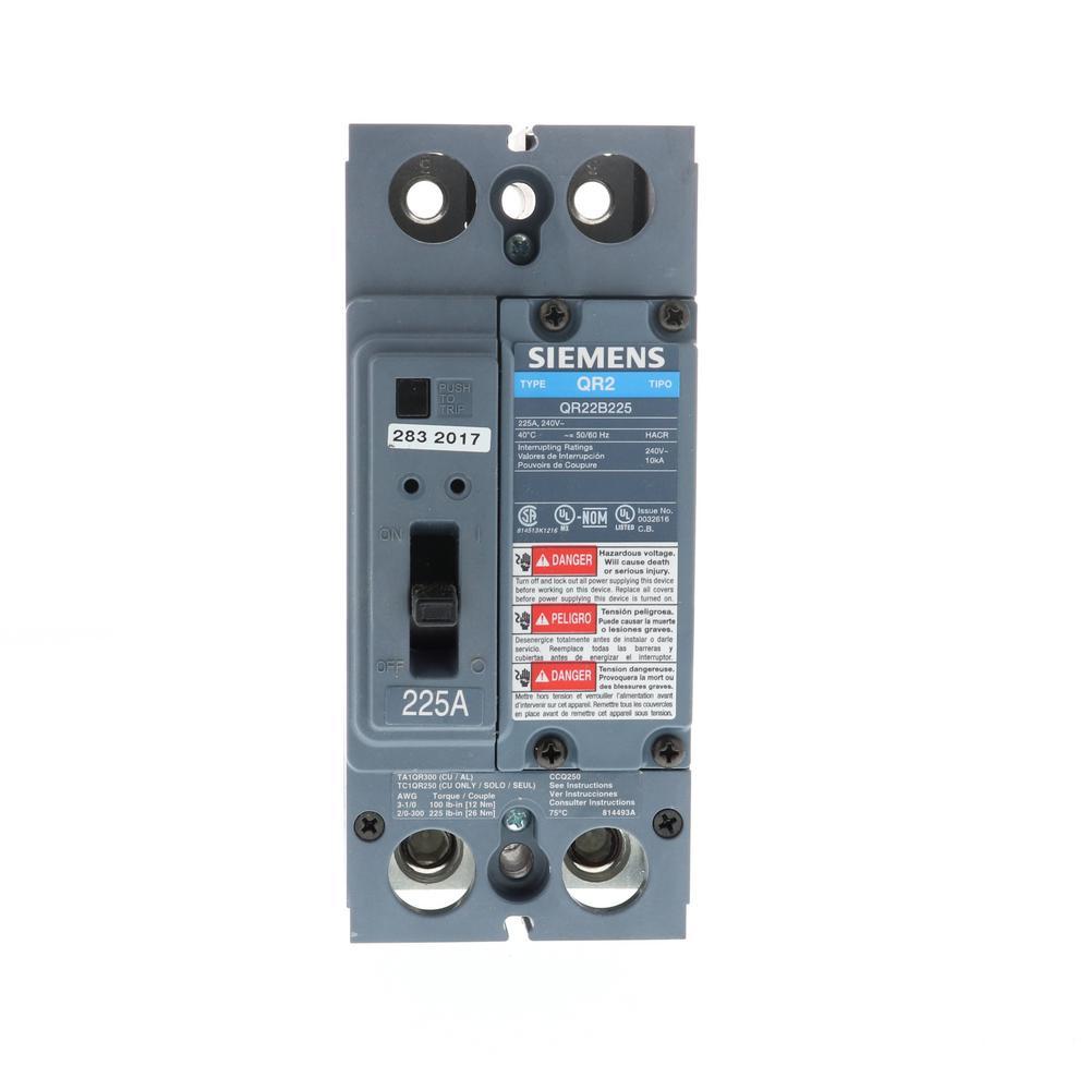 Siemens Es Series 225 Amp 42 Space Circuit Main Breaker Indoor 3 220 110 3ph Panel Wiring Diagram Double Pole Type Qr