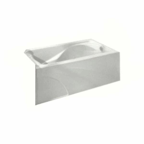 Cadet 5 ft. Right Drain Integral Apron Bathtub in White