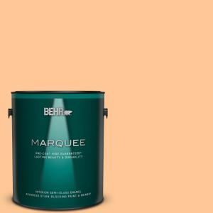 Behr Marquee 1 Gal P230 5 Florida Sunrise Semi Gloss Enamel Interior Paint And Primer In One 345401 The Home Depot