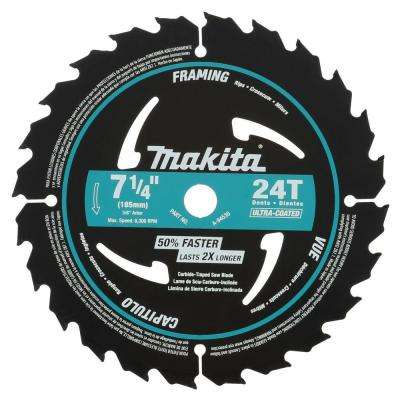 7-1/4 in. 24-Teeth Carbide-Tipped Ultra-Coated Framing Blade (10-Pack)