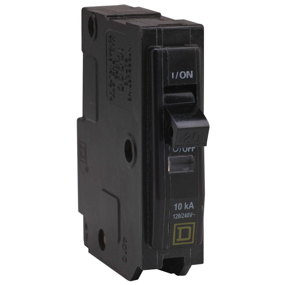 Square D Qo 20 Amp Single Pole Circuit Breaker Qo120cp