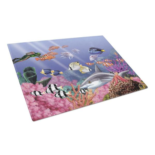 Undersea Fantasy 5 Tempered Glass Large Cutting Board