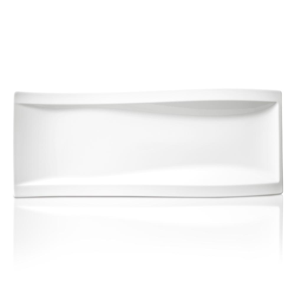 New Wave White Porcelain Antipasti Plate