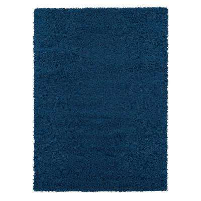 Shag Collection Navy 8 ft. x 10 ft. Area Rug
