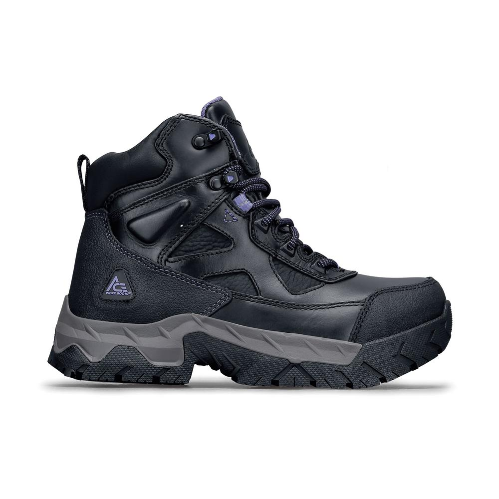 c43f55070b6ff Regent ST Women s Size 6.5M Black Purple Leather Slip-Resistant Steel Toe  Work Boot