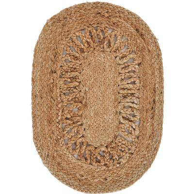 19 in. x 13 in. Brown Natural Jute Placemats ( Set of 4 )