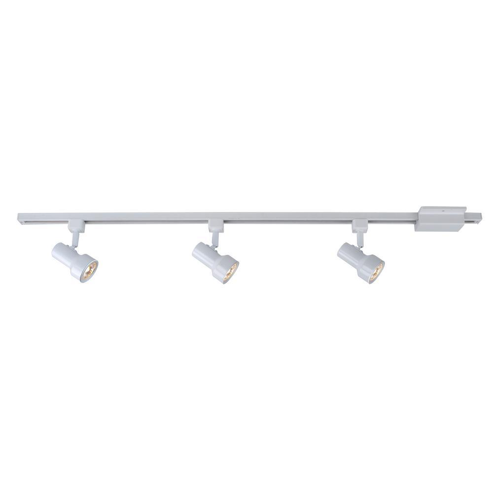 3 Light White Linear Track Lighting Kit