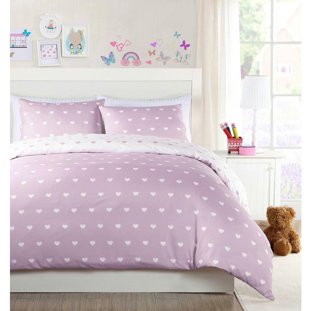 Duck River Kelly Purple Twin Heart Comforter Set KE3PU=4 /11496