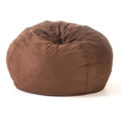 5 ft. French Roast Suede Microfiber Double-Stitched Bean Bag