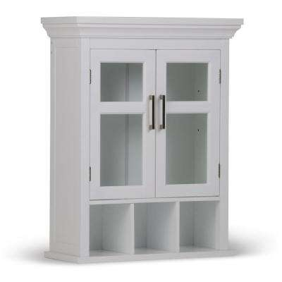 Avington 30 in. H x 23.6 in. W Double Door Wall Bath Cabinet with Cubbies in Pure White