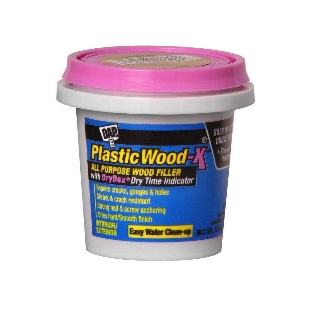 Dap plastic wood x with drydex 5 5 oz 12 pack for Wood floor hole filler