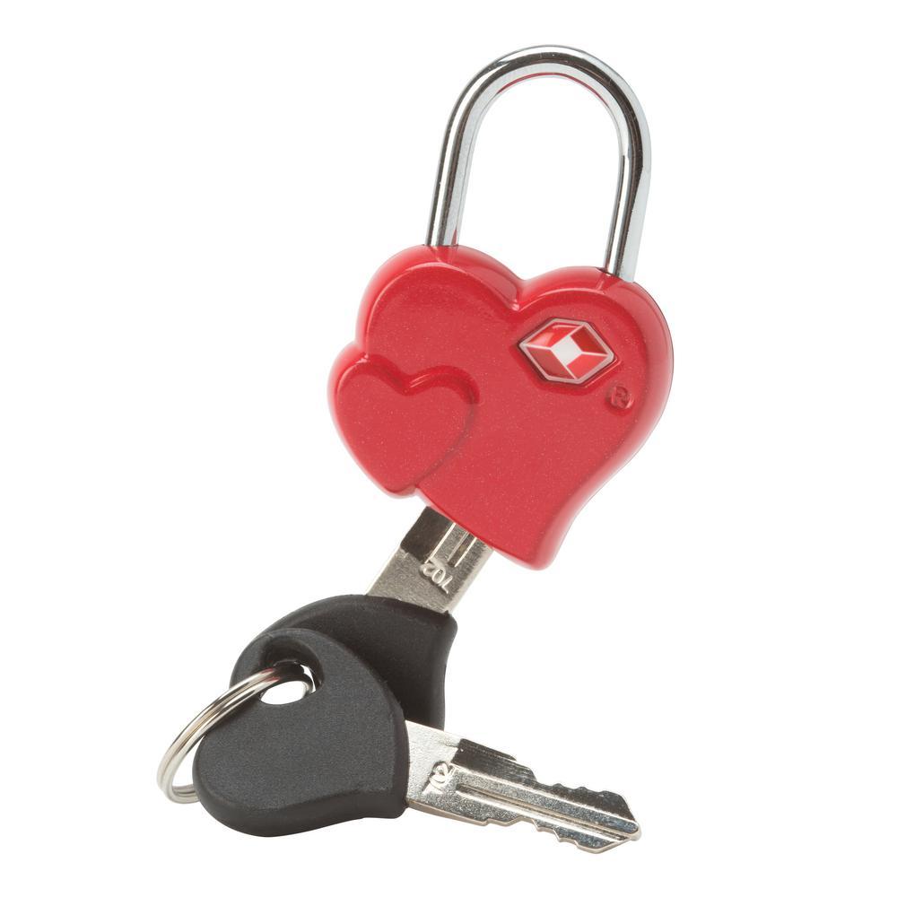 Heart Shaped Luggage Lock