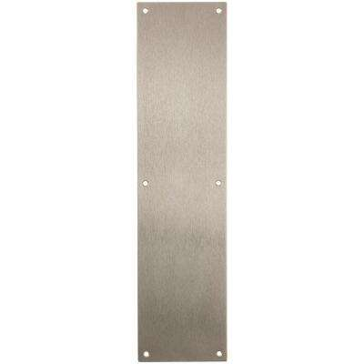 4 in. x 16 in. Satin Chrome Beveled Push Plate