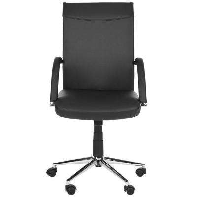 Dejana Black Synthetic Leather Office Chair