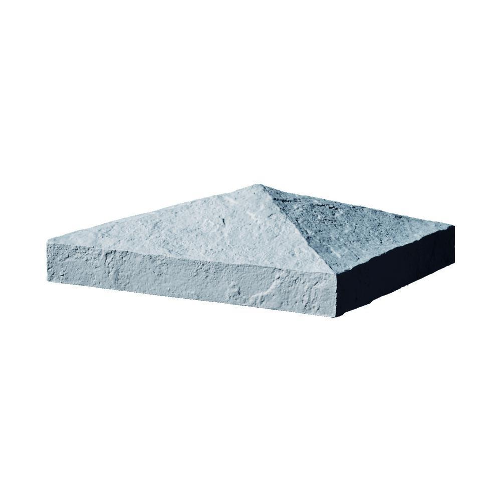 Slatestone 10.5 in. x 10.5 in. x 3.5 in. Graphite Faux Polyurethane Stone Post Cover Cap