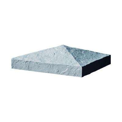 Slatestone 10.5 in. x 10.5 in. x 3.5 in. Graphite Faux Polyurethane Stone Post Cover Cap