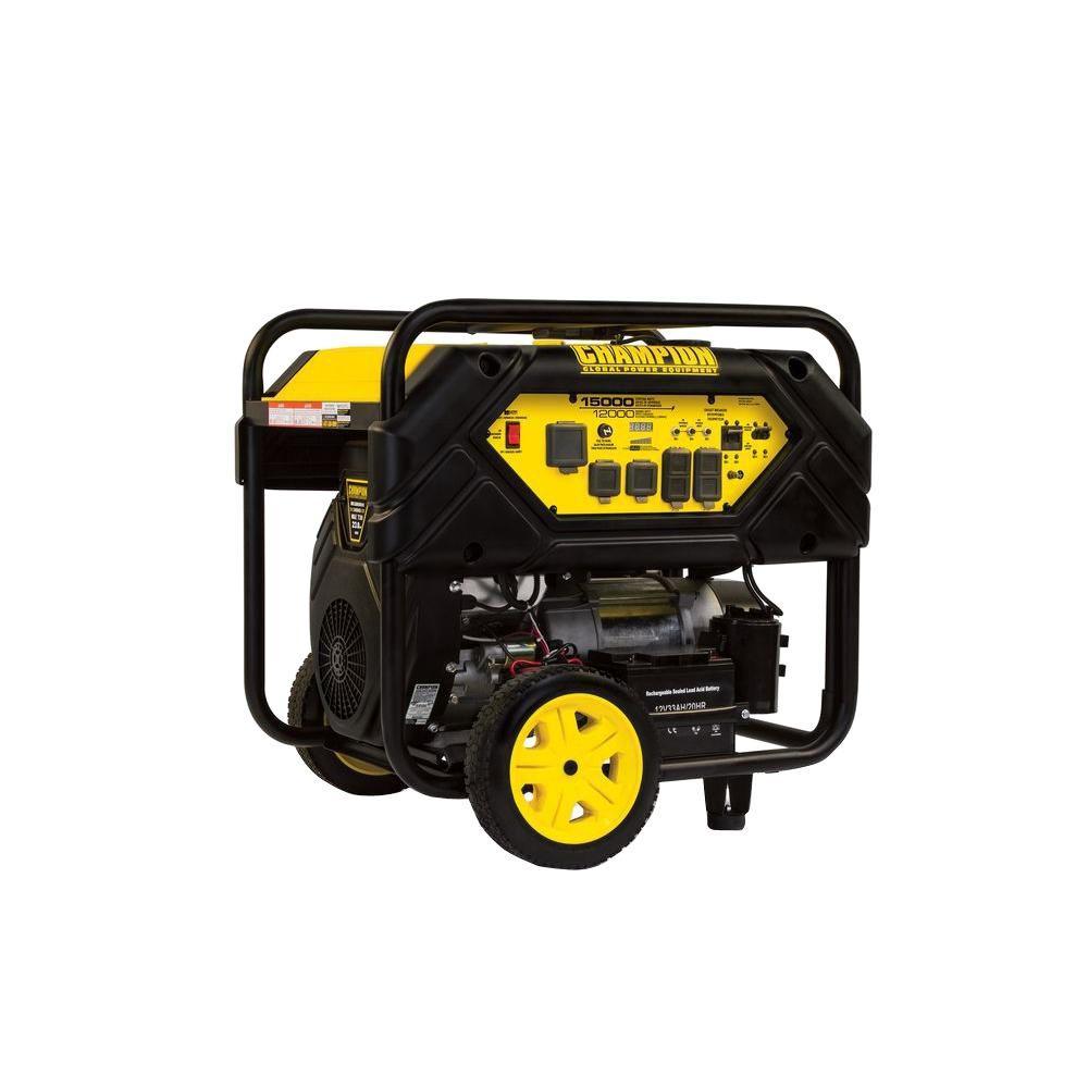 Champion Power Equipment 12 000 Watt Gasoline Powered Electric Start