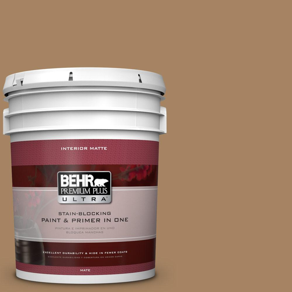 5 gal. #290F-5 Wooden Swing Flat/Matte Interior Paint