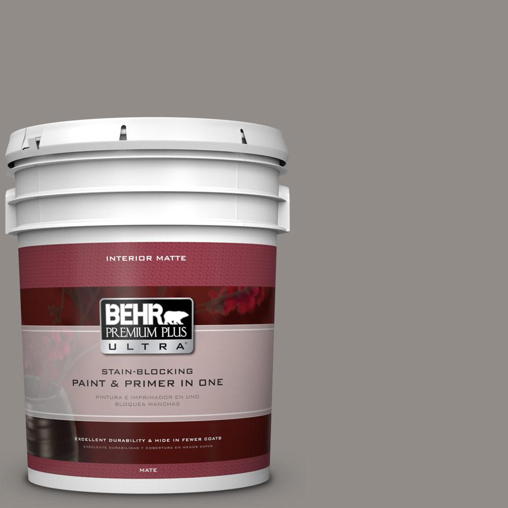 5 gal. #790F-4 Creek Bend Matte Interior Paint and Primer in