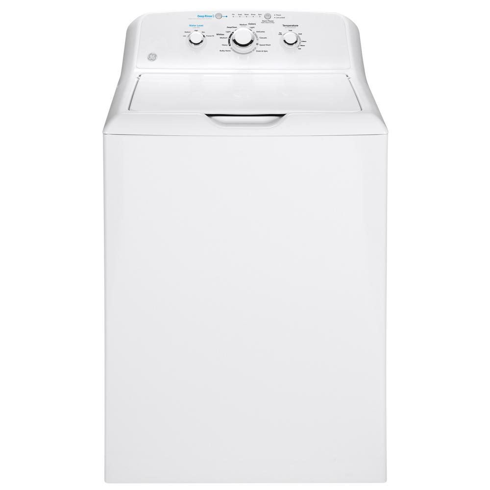 GE 4.2 cu. ft. White Top Load Washing Machine with Stainless Steel Basket