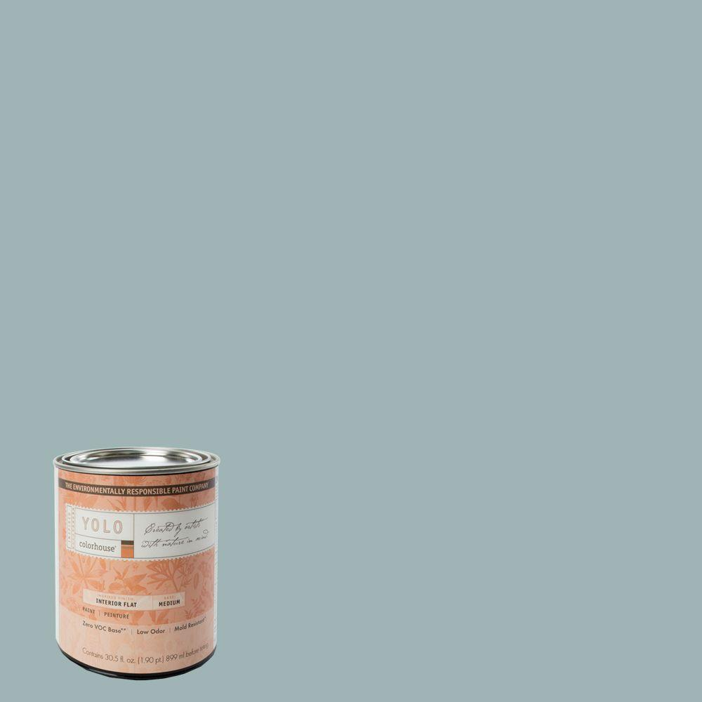 YOLO Colorhouse 1-Qt. Water .04 Flat Interior Paint-DISCONTINUED
