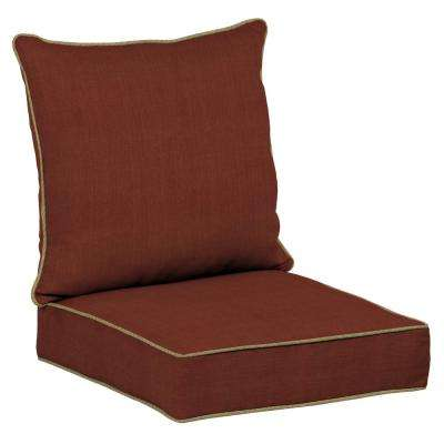 Pompas Pomegranate Snap Dry 2-Piece Deep Seating Outdoor Lounge Chair Cushion