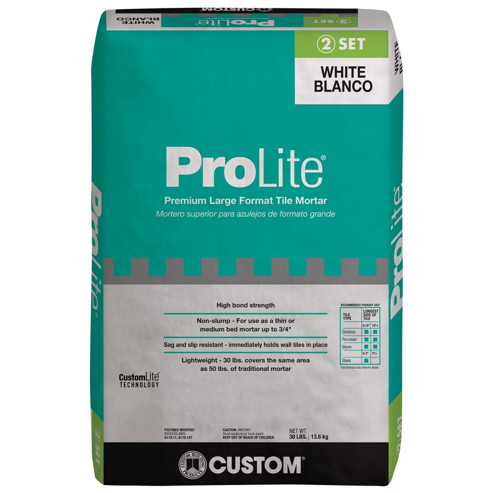 Custom Building Products ProLite 30 lb. White Tile and Stone Mortar ...