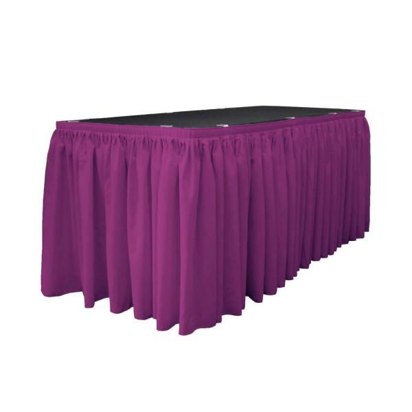 Groovy 30 Ft X 29 In Long Magenta Polyester Poplin Table Skirt With 15 L Clips Download Free Architecture Designs Scobabritishbridgeorg